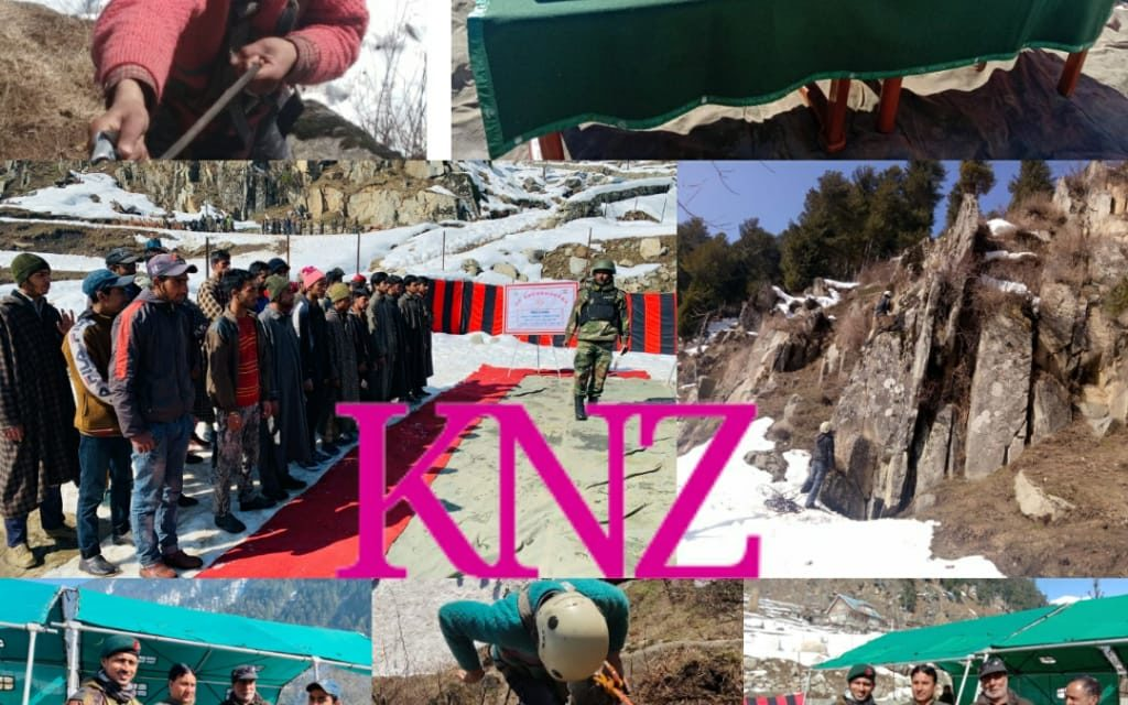 Local youth show skills at Rock climbing competition organised by Indian Army