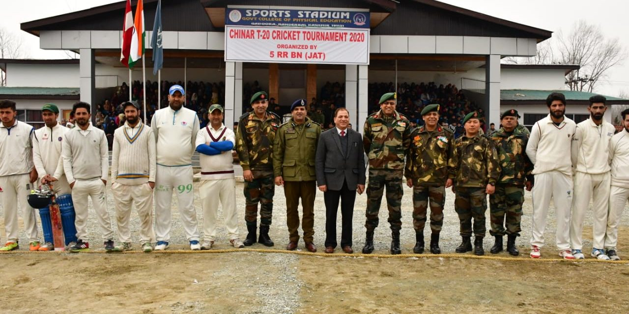 Army organised cricket tournament at Ganderbal