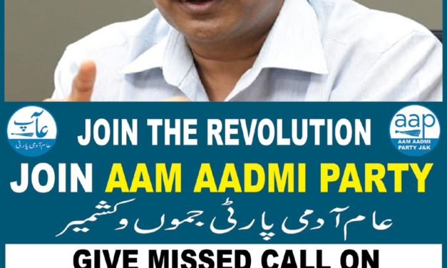 Aam Aadmi Party launches campaign in Kashmir