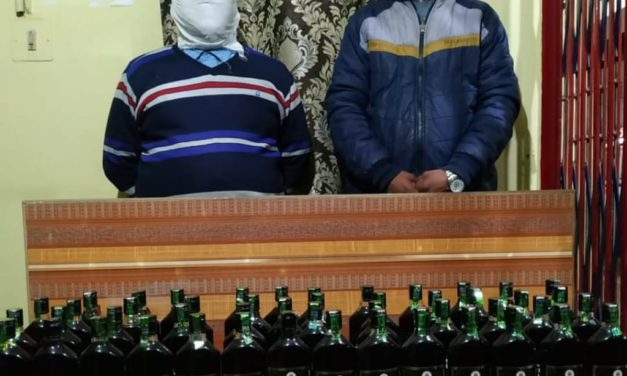 Srinagar Police arrests 02 bootleggers;Illicit liquor recovered