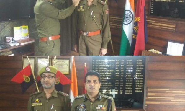 Ganderbal Police Organized Pipping Ceremony Of Newly Promoted Assistant Sub Inspector Of J&K Police