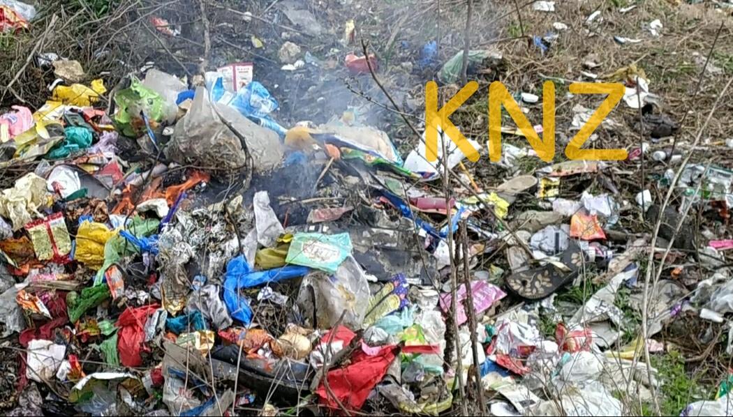 Hazardous Garbage being burnt at tourist spot Manasbal