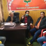 BJP holds COVID-19 review meeting at Party Office Srinagar